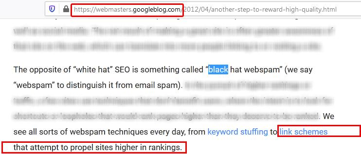 Google Blog about Web Spam