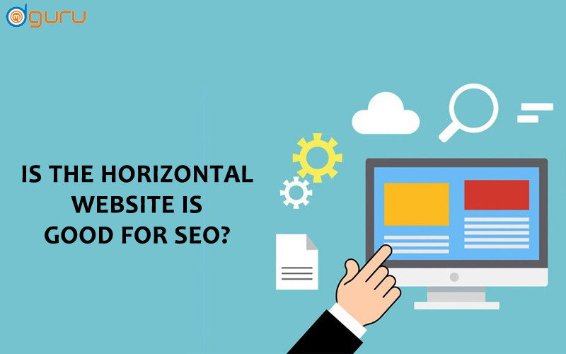 horizontal website is good for seo