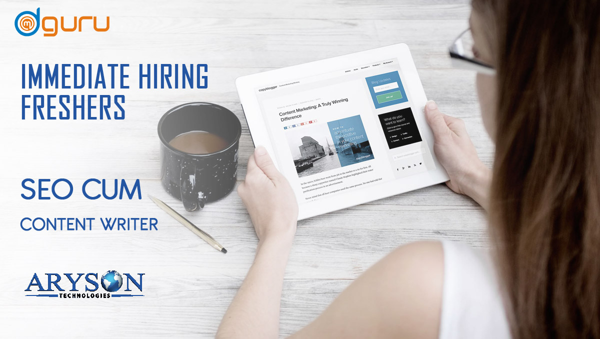 SEO cum Content Writer Trainee at Aryson Technologies in Noida, India