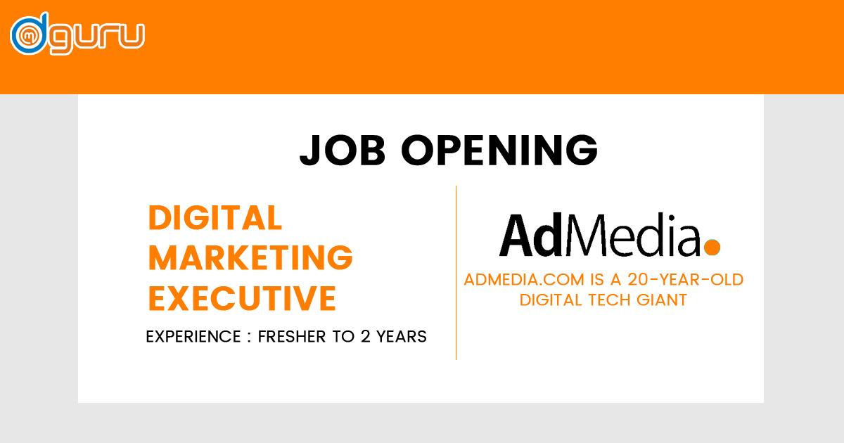 Digital Marketing Executive Job/Vacancy at AdMedia Digital