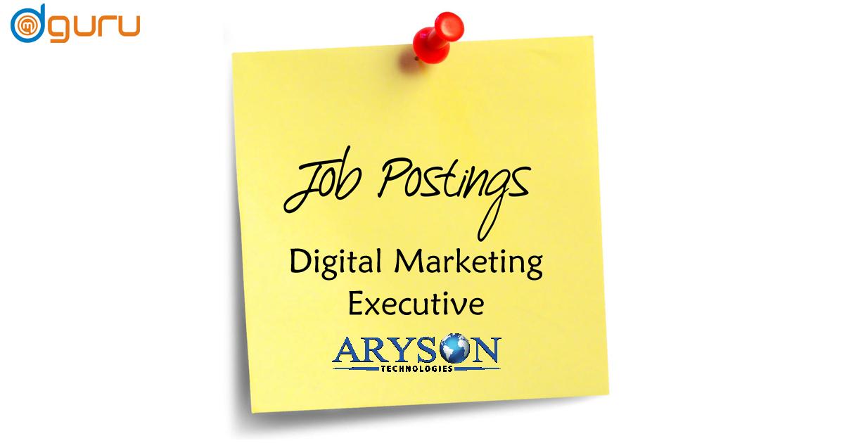 Digital Marekting Vacancy at Aryson Noida