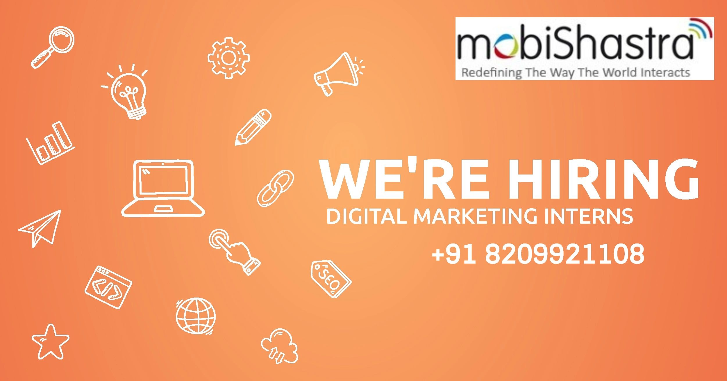 Digital Marketing Intern Job/Vacancy at Mobishastra Technologies