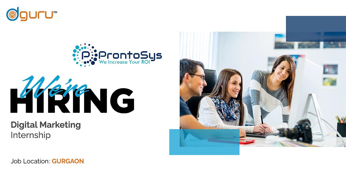 digital marketing internship at Prontosys Technologies
