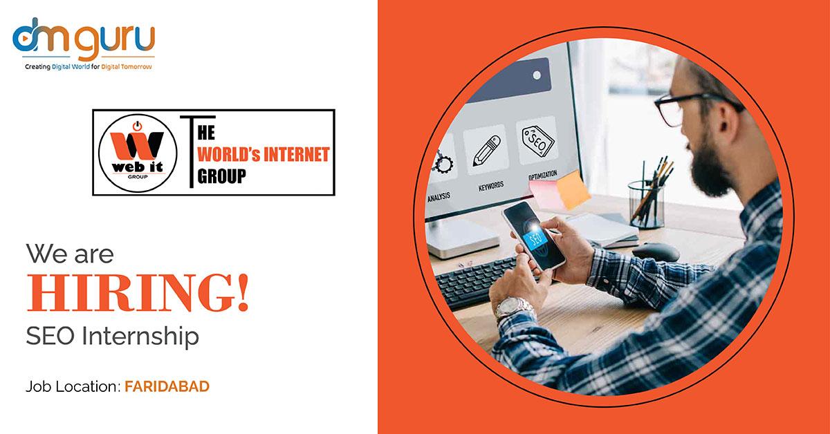SEO Internship at Web IT Makers Faridabad