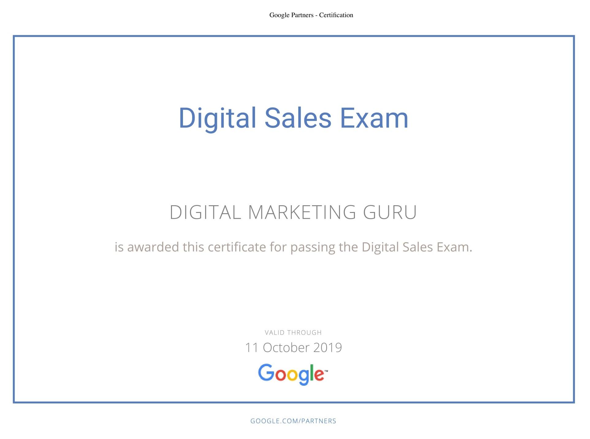 Certificates dm guru best digital marketing training course in certificates xflitez Choice Image
