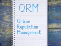 ORM- Online Reputation Management written in notebook on wooden
